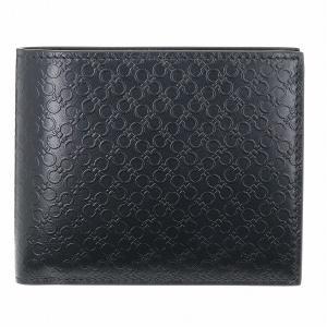 【箱破損】フェラガモ 2つ折り財布 FERRAGAMO 財布 メンズ DOPPIO GAMCI ブラック 66A115 0007 0010|outleta
