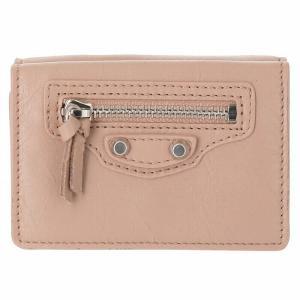【訳あり】バレンシアガ 三つ折り財布 ミニ財布 ミニウォレット CLASSIC 三つ折り財布 ROSE DE SABLES|outleta