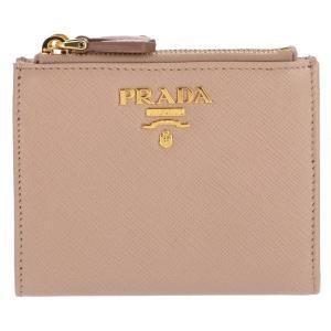 【訳あり】プラダ 財布 ミニ財布 レディース サフィアーノメタル 二つ折り財布 1ML024 QWA 236|outleta