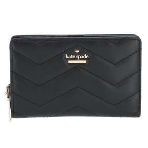 【訳あり】ケイトスペード 財布 二つ折り ミニ財布 DARA パスケース付き ブラック BLACK PWRU6631 0028 001|outleta