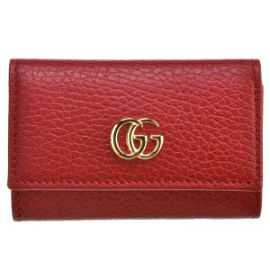【訳あり】グッチ Petite Marmont 6連キーケース HIBIS RED 456118 CAO0G 6433|outleta
