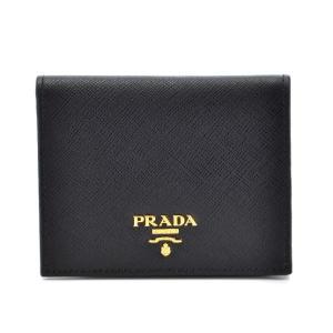 【訳あり】プラダ サフィアーノ 財布 二つ折り レディース ミニ財布 二つ折り財布 NERO 1MV204 QWA 002|outleta