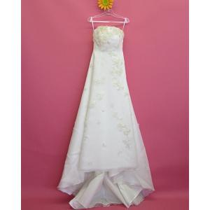 ウェディングドレス  ベアトップ  スパンコール刺繍 Aライン 11号 dress-d-59|outletconveni