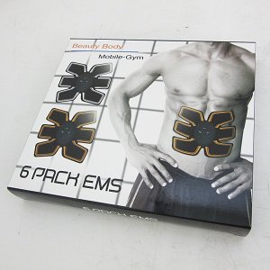 【アウトレット】 AUCHADY EMS 腹筋ベルト 6PACK Super Big Butterfly j2375|outletconveni