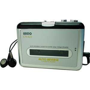 【新品/取寄品】ANDO アンドー オートリバースカセットプレーヤー(再生専用) C9-422|outletplaza