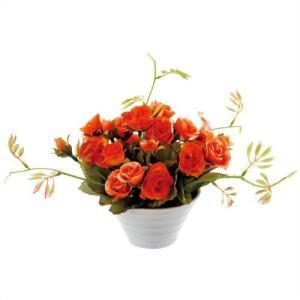【新品/取寄品】【通販限定】【在庫限り】ユーパワー クリエイティブフラワーアート フルローズ FL-01515 オレンジ