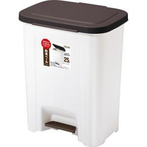 【新品/取寄品】【通販限定】ASVEL R防臭 エバン ペダルペール 25L ブラウン