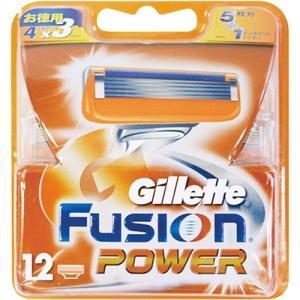 【新品/在庫あり】ジレット フュージョン5+1パワー 替刃12個入り GF51-P12-98849|outletplaza
