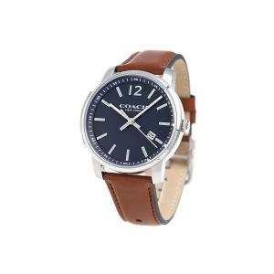 【タイムセール】【新品/在庫あり】COACH ブリーカー スリム 腕時計 メンズ 14602004 クオーツ ネイビー×ブラウン|outletplaza