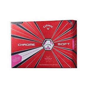 【新品/在庫あり】CHROME SOFT TRUVIS シェブ ボール 2018年モデル [ホワイト/ピンク]|outletplaza