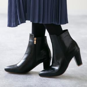 ショートブーツ レディース ブーツ ポインテッドトゥ サイドジップ 履きやすい 大きいサイズ 小さいサイズ 黒 白ブーツ 送料無料|welleg from アウトレットシューズ
