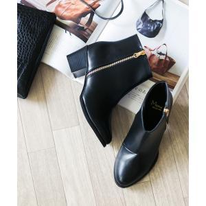 ショートブーツ レディース ヒール ブラウン 大きいサイズ サイドジップ 小さいサイズ 履きやすい 送料無料 新作早割4,190円 一部予約|outletshoes|15