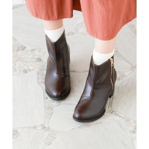 ショートブーツ レディース ヒール ブラウン 大きいサイズ サイドジップ 小さいサイズ 履きやすい 送料無料 新作早割4,190円 一部予約|outletshoes|08