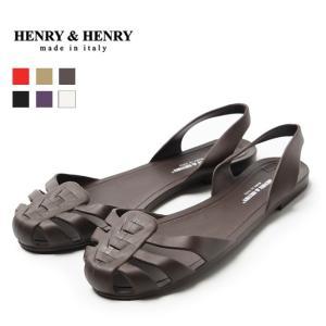 サンダル メール便送料0円 レディース ぺたんこ ラバーシューズ HENRY&HENRY(ヘンリー&ヘンリー) 在庫限り|outletshoes