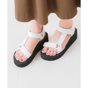 スポーツサンダル レディース 厚底 履きやすい 疲れない ベルクロ ウェッジソール 歩きやすい おしゃれ 送料無料|outletshoes|12