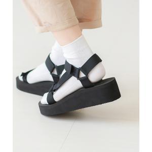 スポーツサンダル レディース 厚底 履きやすい 疲れない ベルクロ ウェッジソール 歩きやすい おしゃれ 送料無料|outletshoes|15