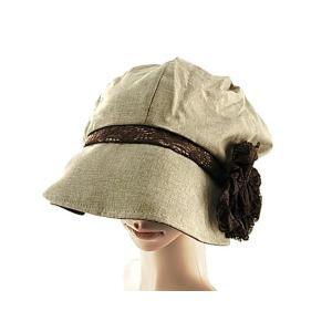 ノーメイクでもすっぽりカバー、スッピン隠しふんわりレース飾り帽子です。 帽子作家CHeeRA・のむら...