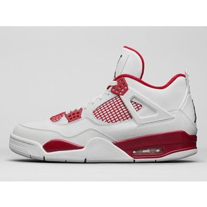 new product c8196 1355d Basketball Alternate 89 White Black-Gym Red Nike Air Jordan 4 Retro 308497- 106