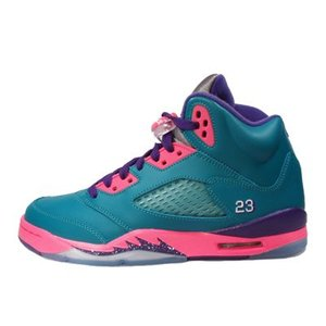 AIR JORDAN 5 RETRO GS -Tropical Teal/Digital Pink-|outnumber