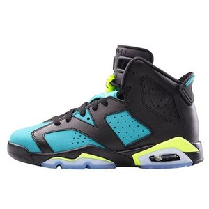 AIR JORDAN 6 RETRO GS -Black/Volt Ice-Turbo Green-|outnumber