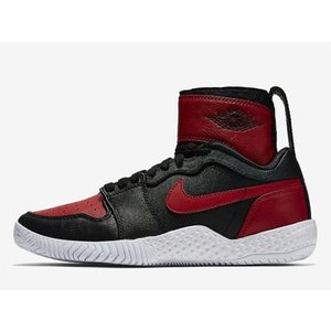 878458-023 NIKE COURT FLARE LG QS AJ1 23 SERENA WILLIAMS AIR JORDAN 1 BLACK/VARSITY RED WMNS ナイキ コート フレア セリーナ ウィリアムズ|outnumber