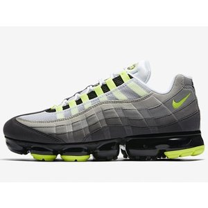 AJ7292-001 NIKE AIR VAPORMAX 95 NEON YELLOW BLACK ...