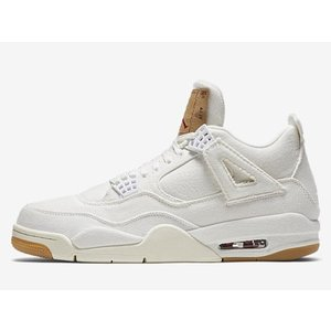 AO2571-100 AIR JORDAN 4 RETRO LEVI'S NRG WHITE エアジ...