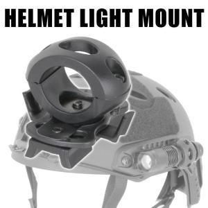 SHENKEL ファストヘルメット用 ライトマウント サバイバルゲーム サバゲー 装備
