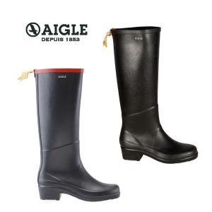 AIGLE(エーグル)MISS JULIETTE A ミスジュリエットA [日本正規品] ZZF8408 レディース ラバーブーツ レインブーツ 長靴 ブラック ネイビー|outspot