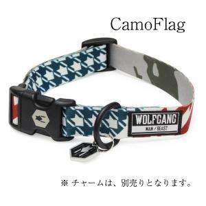 WOLFGANG Collar Lサイズサイズ CamoFlag (ウルフギャング カラー) お洒落なカラー ?サイズ|outtail