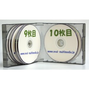 割れにくいPP素材 35mm厚 12枚収納CDケース グレー1個|ovalmultimedia|03