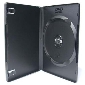 DVDケース トールケース シングルタイプ ソフトケース 1枚収納15mm厚Mロック ブラック 1個|ovalmultimedia