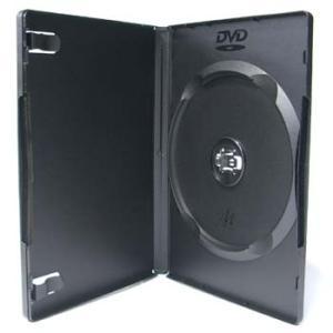 DVDケース トールケース シングルタイプ ソフトケース 1枚収納15mm厚Mロック ブラック 10個|ovalmultimedia