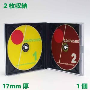 17mm厚の貴重なケース CD DVDディスクを2枚収納DUOケース ブラック 1個 ovalmultimedia