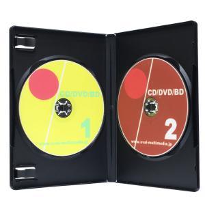 DVDケース トールケース 2枚収納 ブラック 15mm厚Mロック 1個|ovalmultimedia