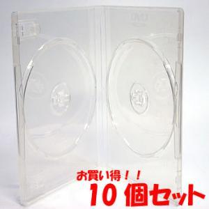 DVDケース トールケース 見開き2枚収納 クリア 15mm厚 Mロック 10個|ovalmultimedia