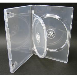 DVDケース トールケース 2枚収納 スーパークリア 15mm厚Mロックフリップタイプ10個|ovalmultimedia