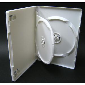 DVDケース トールケース 2枚収納 スーパーホワイト 15mm厚Mロックフリップタイプ10個|ovalmultimedia