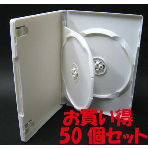 DVDケース トールケース 2枚収納 スーパーホワイト 15mm厚Mロックフリップタイプ50個|ovalmultimedia