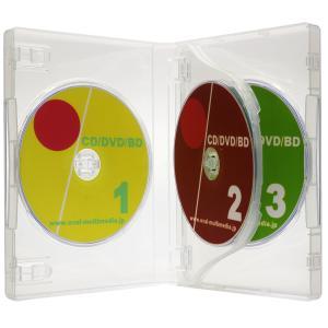 DVDケース トールケース 3枚収納 クリア 27mm厚Mロック 1個 ovalmultimedia