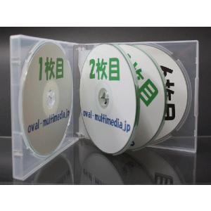 21mm厚に6枚収納CDケース マルチCD DVDケース6枚収納 スーパークリア10個|ovalmultimedia|02