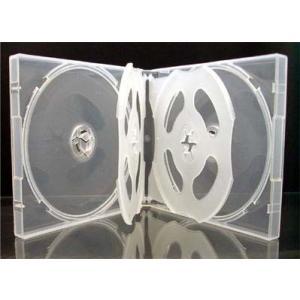 21mm厚に6枚収納CDケース マルチCD DVDケース6枚収納 スーパークリア10個|ovalmultimedia|03