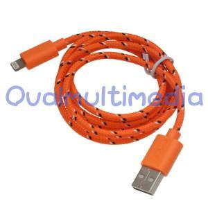 やさしい手触りのライトニング互換ケーブル1mオレンジ ovalmultimedia