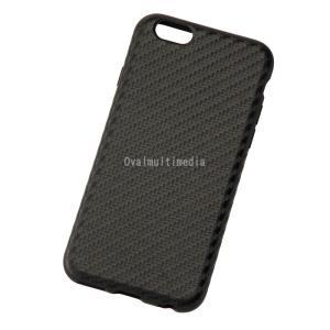 iPhone6用しなやかなカーボン調ケース ブラック ovalmultimedia