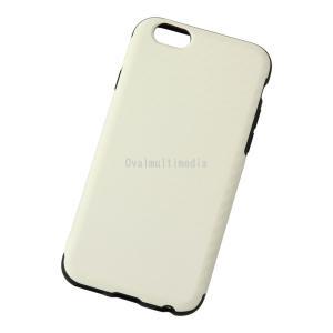 iPhone6用しなやかなカーボン調ケース ホワイト ovalmultimedia
