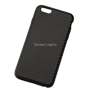 iPhone6Plus用しなやかなカーボン調ケース ブラック ovalmultimedia