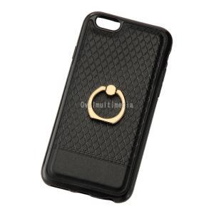 iPhone6/6s用リング付きケース ブラック ovalmultimedia