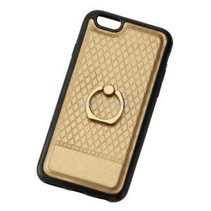iPhone6/6s用リング付きケース ゴールド ovalmultimedia