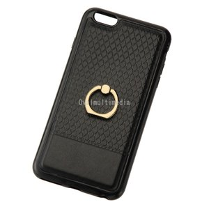 iPhone6sPlus用リングケース ブラック ovalmultimedia