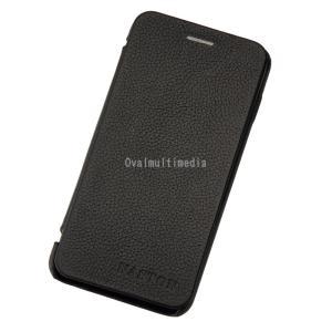 iPhone6用フリップケース 横 ブラック ovalmultimedia